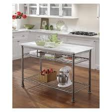 stainless steel kitchen island with butcher block top kitchen hillsdale furniture castille metal kitchen island