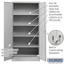 Heavy Duty Storage Cabinets Amazon Com Salsbury Industries Heavy Duty Assembled Storage