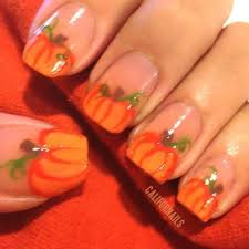image result for pumpkin nails hair and nails