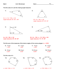 Interior And Exterior Angles Worksheet Robot Hw 2 And Review Solutions