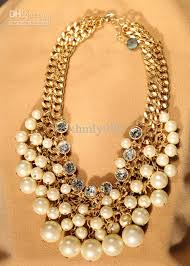 gold costume necklace images 2018 designer chunky pearl necklace double gold chain luxury jpg
