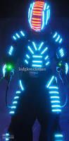 Light Up Costumes Stilt Led Cosplay Wear Stylish Led Glowing Stilt Led Costume