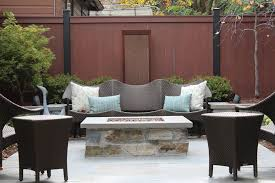 Patio Furniture Chicago by Chicago Contemporary Patio Furniture With Red Fence Wicker Rattan