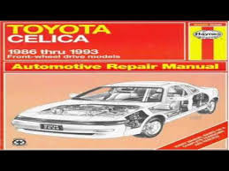 2001 toyota celica repair manual toyota celica fwd automotive repair manual models covered all