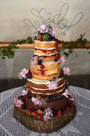 wedding cake no icing 14 best bare wedding cakes images on wedding cake