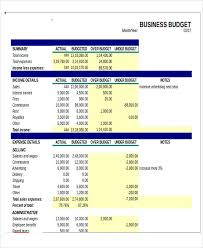 Business Budget Template Excel Free Excel Business Budget Templates Free Premium Templates