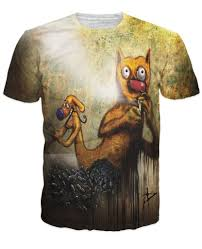 catdog catdog on heroin all over print t shirt