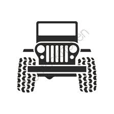 jeep art jeep 4x4 grill 4 wheeling cutting template svg eps silhouette
