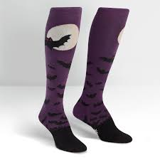 knee high halloween socks batnado women u0027s knee high sock it to me