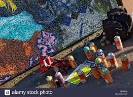 spray paint cans used in painting graffiti and wall murals stock spray paint cans used in painting graffiti and wall murals