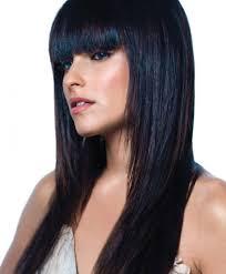 long black hairstyles with bangs women medium haircut