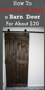 how to build and hang a barn door for around 20 barn doors