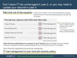 It Risk Management Resume Revive Your Risk Mgmt Program With A Regular Health Check