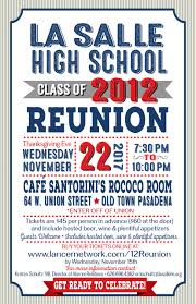 la salle high school class of 2012 five year reunion