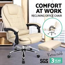 executive office chair with foot rest 360 degree swivel seat gas