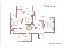 Belvedere Floor Plan Ajnara The Belvedere Sector 79 Sports City Noida