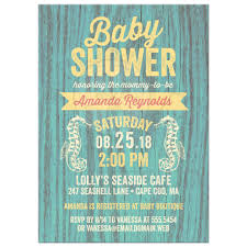 baby shower invitations rustic nautical seaside cottage sign