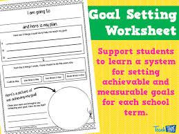 goal setting worksheet printable behaviour management teacher