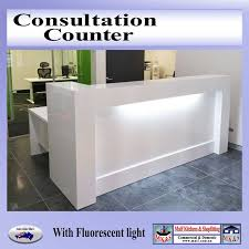 Large Reception Desk Consultation Counter Large Reception Counter For Modern Office