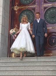 tea length dress wedding biwmagazine com