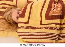 couvert lit images de femme thermometer lit fi礙vre malade a csp4418478