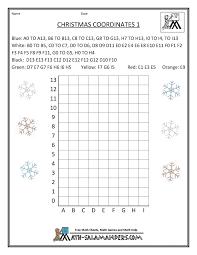 christmas fun math coordinates 1 christmas in the classroom