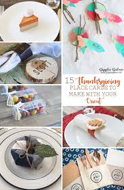 15 thanksgiving place cards to make with your cricut the happy