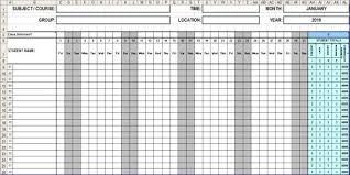 Attendance Sheet Template Excel Attendance Sheet Template Gucci