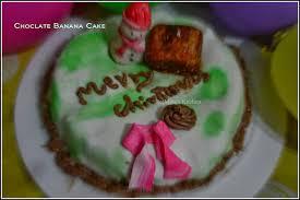 chocolate banana cake with marshmallow fondant christmas special