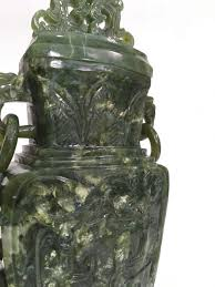 Jade Vases Superb Vase In Spinach Jade China Beginning Of The 20th