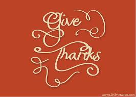lds printables give thanks