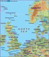 Map Of The World Countries Map Of North Sea Several Countries Map In The Atlas Of The