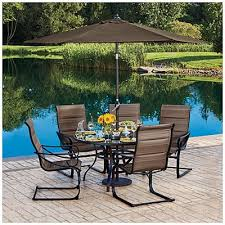 6 Chair Patio Dining Set Wilson U0026 Fisher Tahoe Spring Rocker Chair 6 Piece Dining Set At