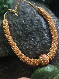 chunky gold necklace fashion images Antique chunky gold beaded necklace south india jewels jpg