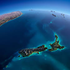 Map New Zealand Elevated Relief Map Of New Zealand Newzealand