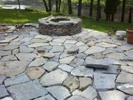 Stone Patio Diy by Stone Backyard Photo On Extraordinary Backyard Stone Wall
