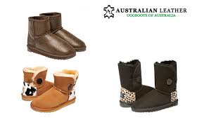 ugg boots australian leather print uggs groupon goods