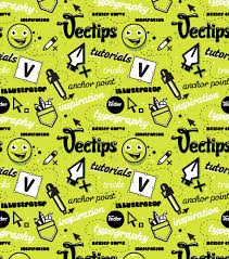 adobe illustrator random pattern create a trendy seamless type pattern vectips
