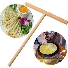 lettre cuisine en bois 2 pcs en bois t lettre cuisine outil bâton épandeur crêpe maker