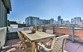rooftop patio new sleek industrial 2br rino loft w rooftop patio