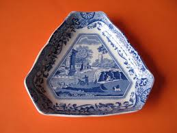 spode blue italian small triangular dish made in ebay