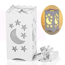 amazon com decorative led crescent moon cloud and star night