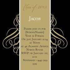 formal invitations black and gold swirls square w magnet in gold fusion invitation