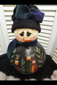 hand painted snowman gourd art gourds holiday pinterest
