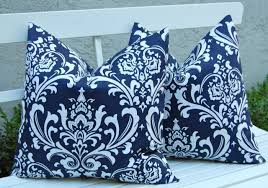 Ikat Home Decor by Royal Blue Throw Pillow Embroidered 16x16 Couch Pillow Royal Blue