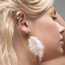 how to make feather ear cuffs feather ear cuff huawei p9