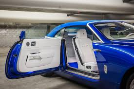 rolls royce blue this custom built rolls royce was designed to look like a yacht