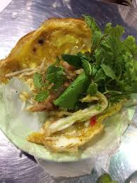 rice paper wrap a rice paper wrap of banh xeo and herbs picture of bale well