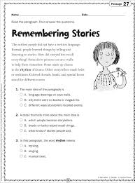 grade 2 reading passages memarchoapraga pinterest