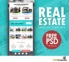 free e newsletter templates real estate e mailer template psd psdfreebies com real estate emailer template image
